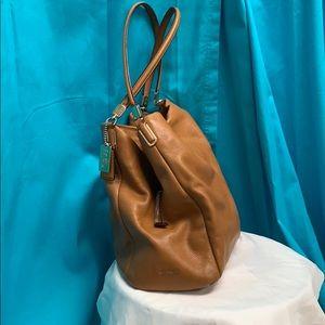 Camel Coach Handbag, Soft Glove Leather
